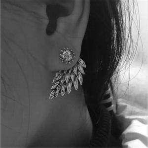 Gold wing earrings